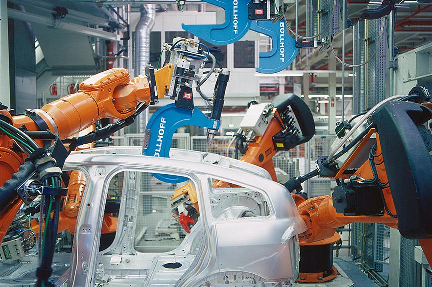 Einblick in die Audi Fertigung