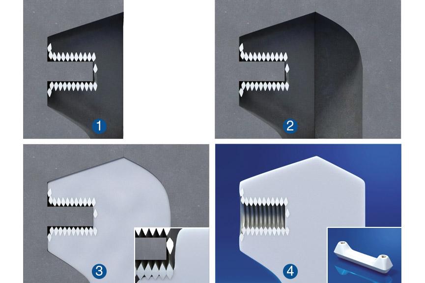Montagem IMTEC® CO - Exemplo da pega de plástico