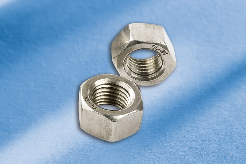 Nuts with Antiseize coating according to B 53090