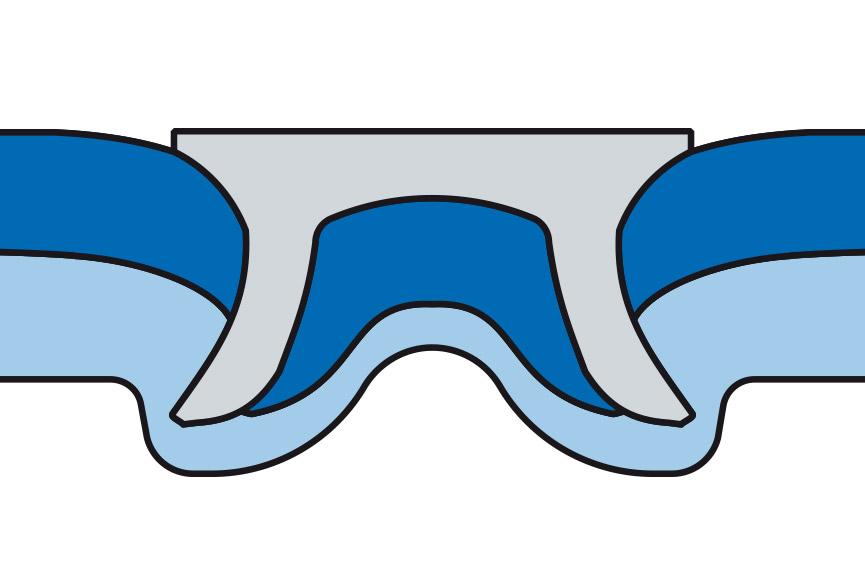 Schematische Darstellung einer RIVSET® Stanznietverbindung