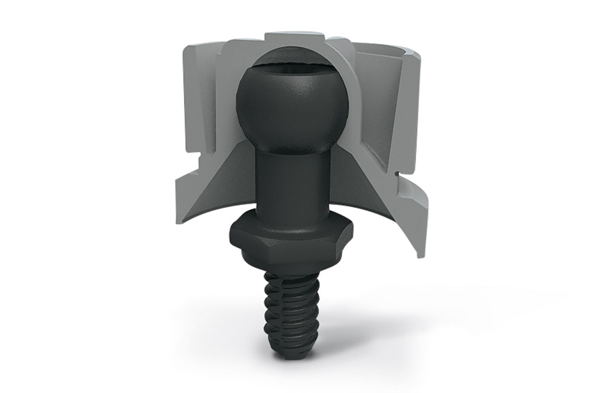 Zásuvné spoje SNAPLOC® se skladajú zguľového čapu a spojky.