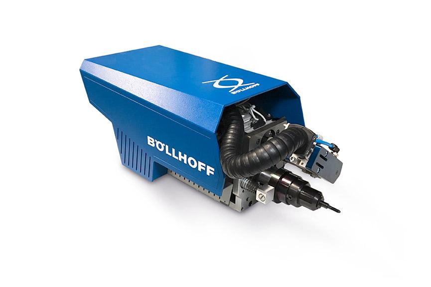 Remachadora automática RIVKLE® HSA 803 (método de colocación por recorrido, neumático-hidráulico) para la colocación de pernos y tuercas remachables RIVKLE® (M 4 a M 10)