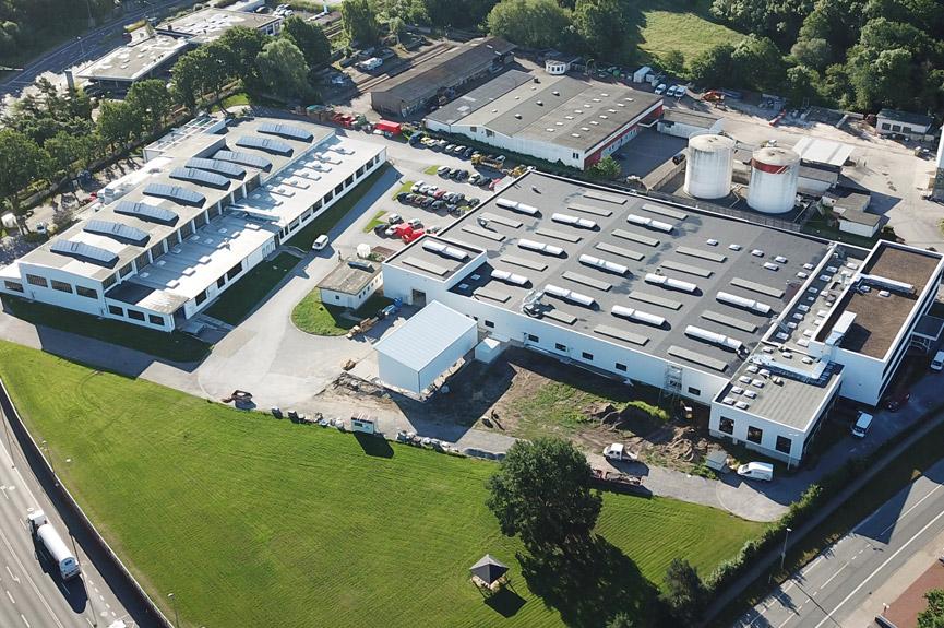 Luftbild Böllhoff Produktionshallen an der Duisburger Straße in Bielefeld