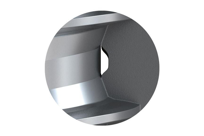 Gewindeflanken Mutternwerkstoff der EJOT DELTA PT® Schraube