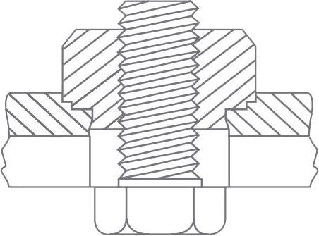 El tornillo que se va a utilizar se debe montar por el lado opuesto del cierre.