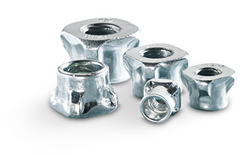 High strength captive nuts for sheet metal KAPTI NUT®