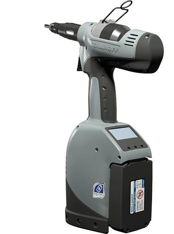RIVKLE® B2007 – Akku-Setzwerkzeug mit innovativer elektro-hydraulischer Technologie für die Verarbeitung von RIVKLE® Blindnietmuttern und Blindnietschrauben (M 3 bis M 10).