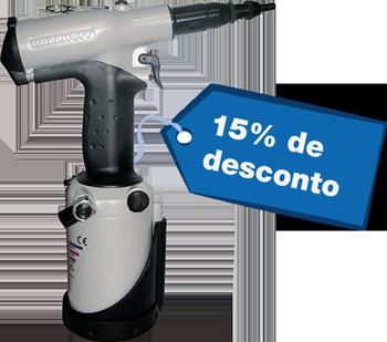 RIVKLE® P2007 – Hydraulisch‑pneumatisches Setzwerkzeug für die kraftgesteuerte Verarbeitung von RIVKLE® Blindnietmuttern und Blindnietschrauben